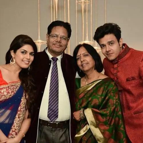 Anirudh Dave Family