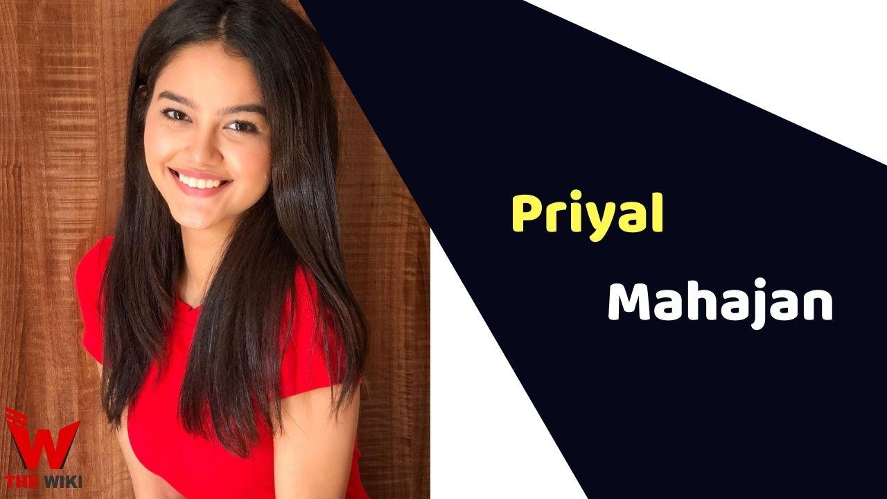 Priyal Mahajan (Actress)