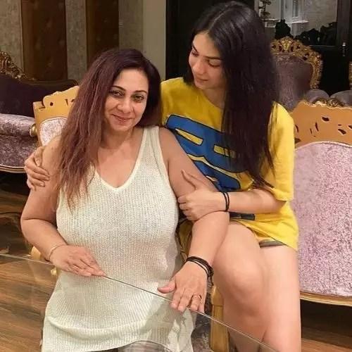 Kashish Rai with Mother