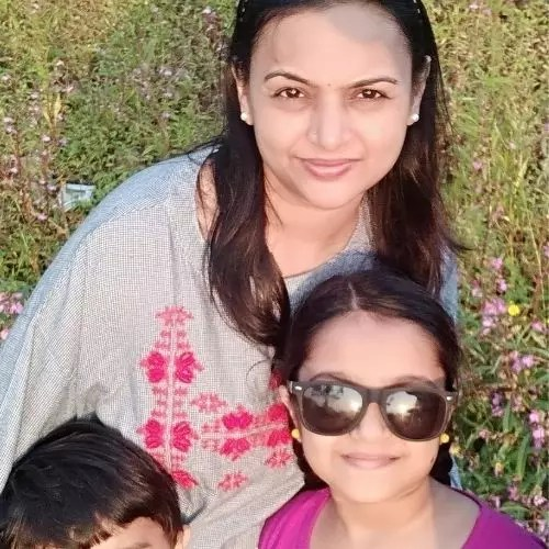 Aditi Jaltare with Mother