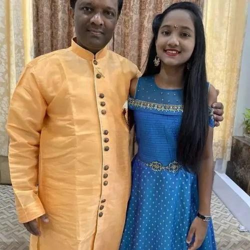 Anjali Gaikwad with Father (Angad Gaikwad)