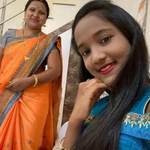 Anjali Gaikwad with Mother