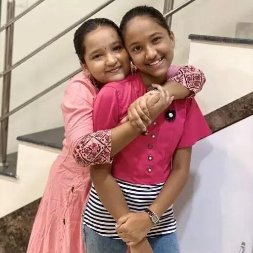 Anjali Gaikwad with Sister (Nandini Gaikwad)