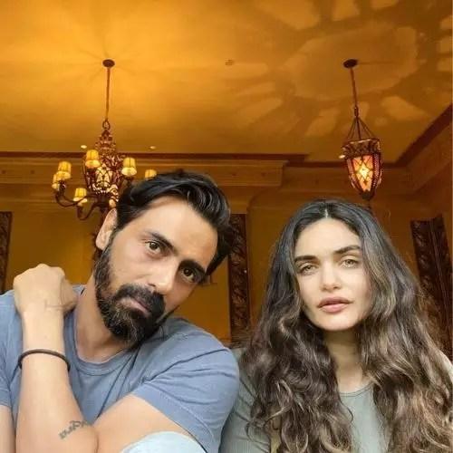 Gabriella Demetriades with Arjun Rampal