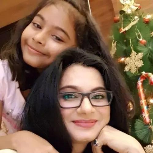 Tasneem Sheikh with Daughter Tia