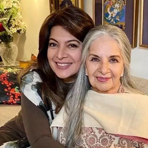 Divya Seth Shah with Mother (Sushma Seth)