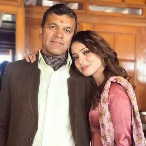 Richa Rathore with Father
