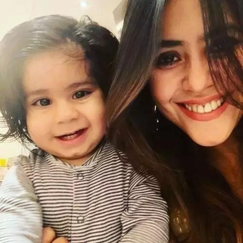 Ekta Kapoor with her Son