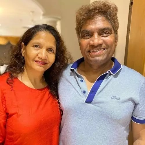 Johnny Lever with Wife