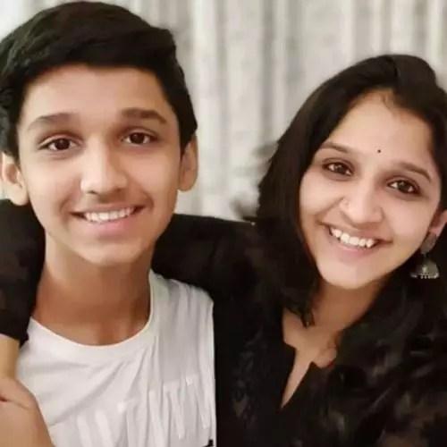 Shivani Sonar with Brother