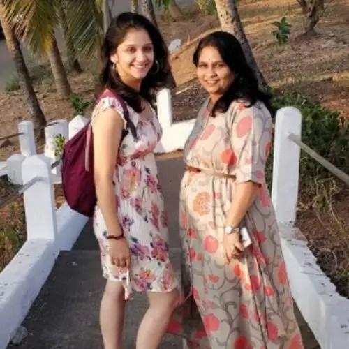Shivani Sonar with Mother
