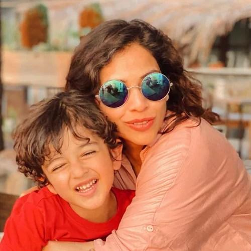 Deepali Pansare with Her Son Ruhaan