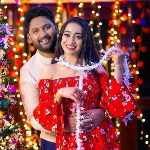 Vindhya Vishaka with Vishal Kumar (Husband)
