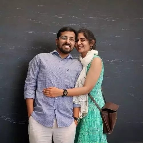 Ekta Chaudhary with Husband