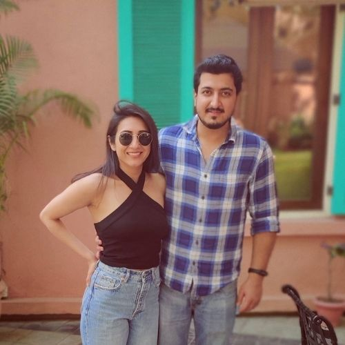 Kriti Vij with Pranay Manchanda (Husband)