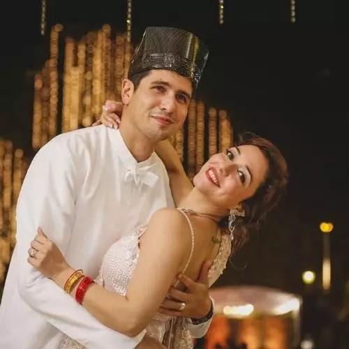 Nauheed Cyrusi with Rustom Contractor (Husband)