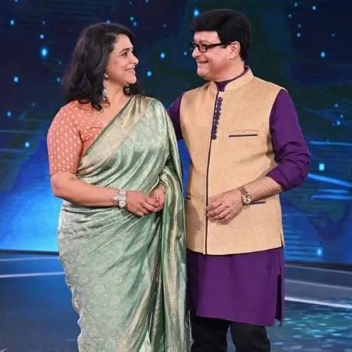Supriya Pilgaonkar and Sachin Pilgaonkar