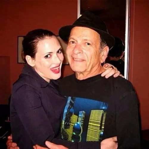 Winona Ryder with Father