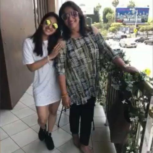 Akansha Ranjan Kapoor with Mother
