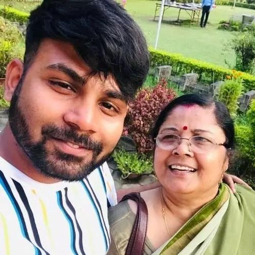 Atul Kumar Sharma with Mother