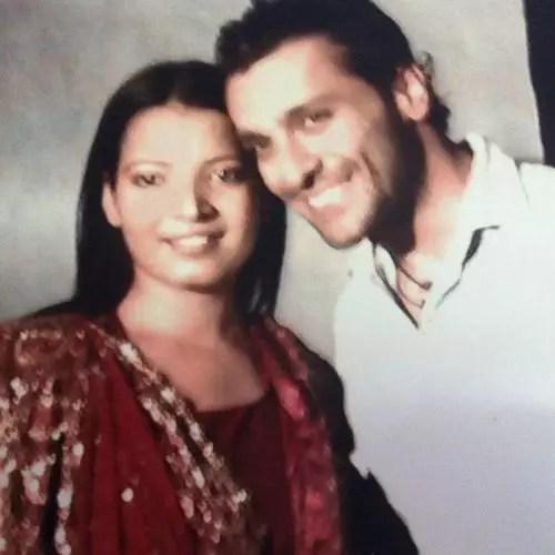 Nirbhay Wadhwa with wife