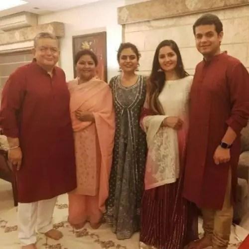 Radha Bhatt with Family