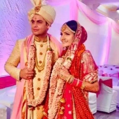 Radha Bhatt with Husband