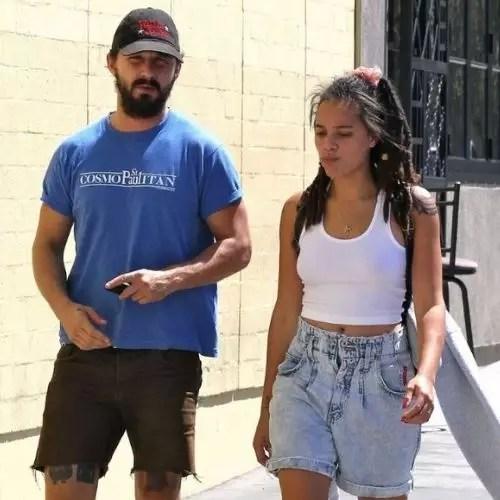 Shia LaBeouf with Sasha Lane