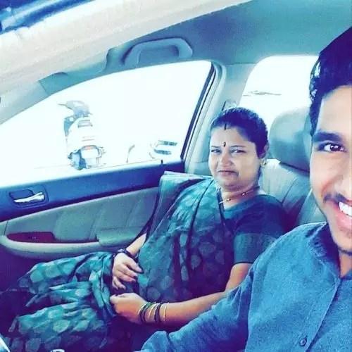 Aditya Durve with mother
