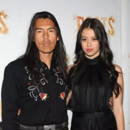 Amber Midthunder with Father