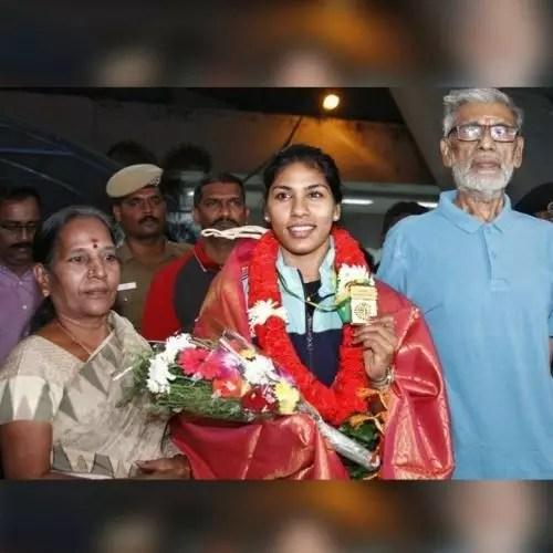 Bhavani Devi with Parents