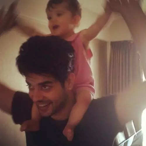 Hasan Zaidi with daughter