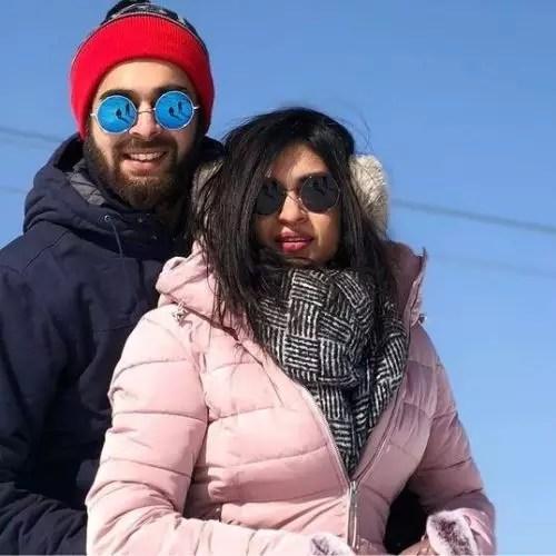Manjot Singh with Ayesha