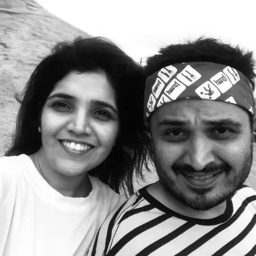 Mukta Barve with Brother