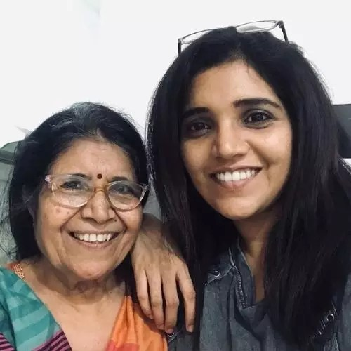 Mukta Barve with Mother