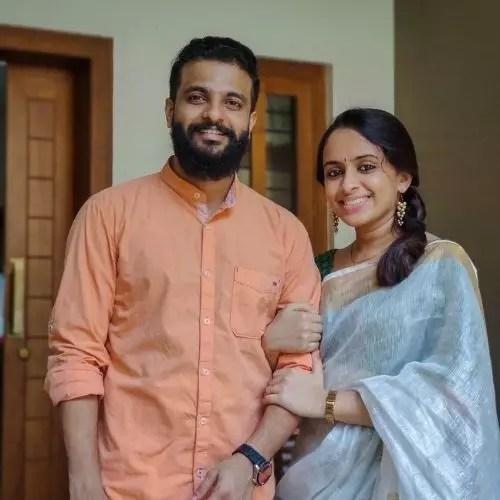 Neeraj Madhav with wife
