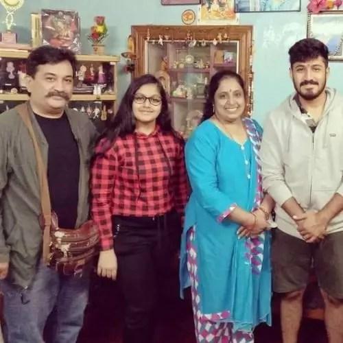 Ninaad Harithsa with Family