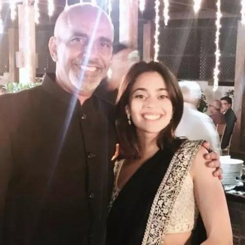 Simran Jehani with father