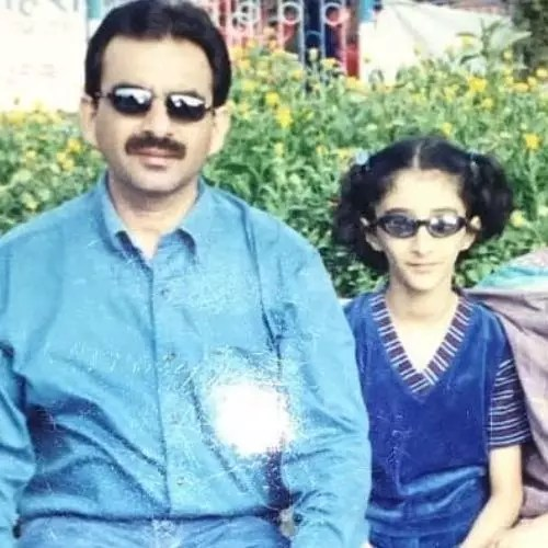 Kritika Avasthi with Father