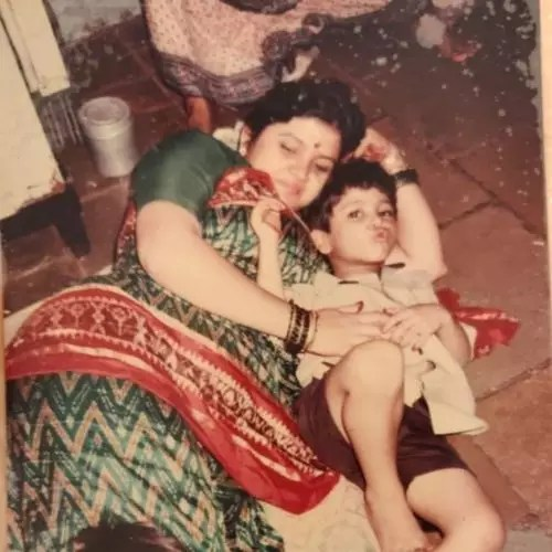 Nishant Bhat with Mother