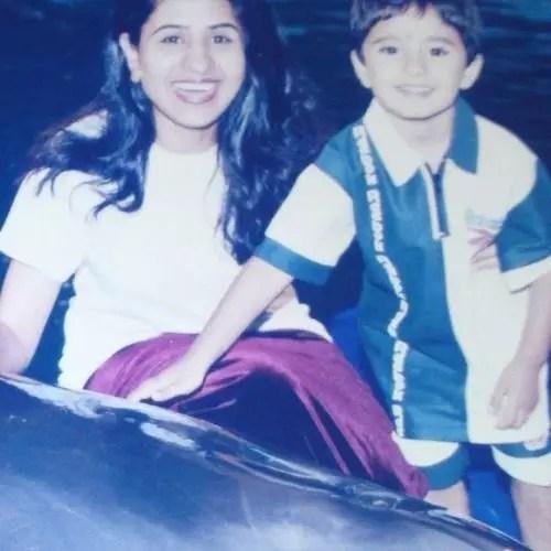 Zeeshan Khan with Mother