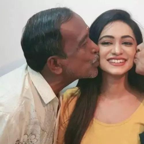 Chandana Segu with Father