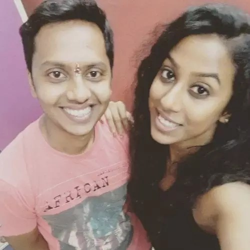 Meenal Shah with Her Brother