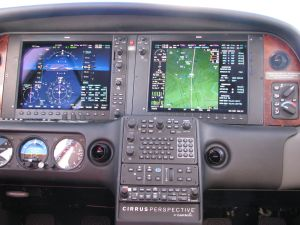 Cirrus Perspective™avionics suite, Nearest Airport page MAP, photo by wikiWings®