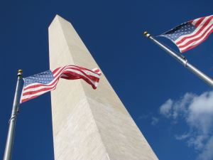The Washington Monument and Flags of the United States of America, Washington DC, photo credit wikiWings