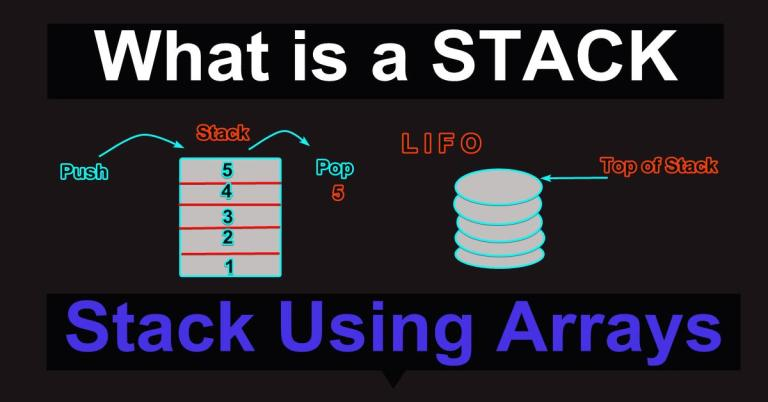 Implementation of STACK using Arrays in C++ Program