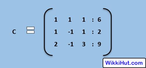 gauss elimination augmented matrix