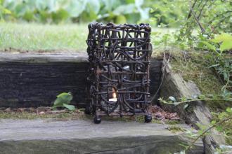 Lampion z rattanu