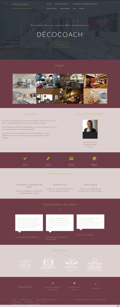 Création de site web pour une décoratrice d'intérieur