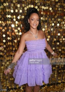 LONDON, ENGLAND - SEPTEMBER 19: Rihanna attends the Fenty Beauty x Harvey Nichols Launch at Harvey Nichols on September 19, 2017 in London, England. (Photo by David M. Benett/Dave Benett/Getty Images for Kendo)
